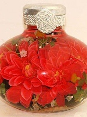 Bottle with flowers